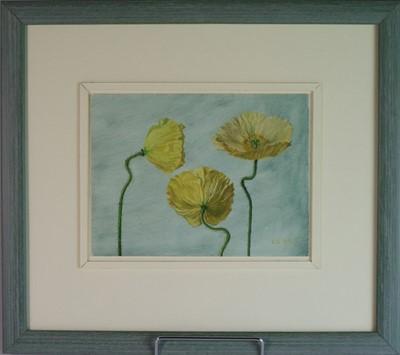 Lot 94 - Carolyn Sergeant (British, 1937-2018) Yellow Poppies