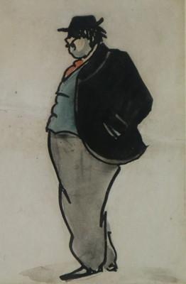 Lot 23 - Claud Lovat Fraser (British, 1890-1921) Gentleman wearing black jacket