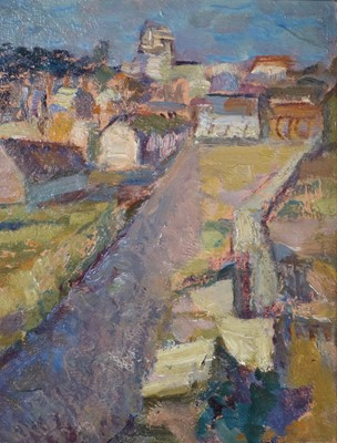 Lot 20 - Peggy Somerville (British 1918-1975) Alderburgh from Shaugndon