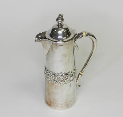 Lot 1 - An American silver hot water pot