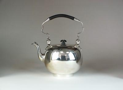 Lot 15 - A Victorian silver spirit kettle