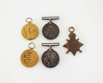 Lot 43 - A World War I medal pair