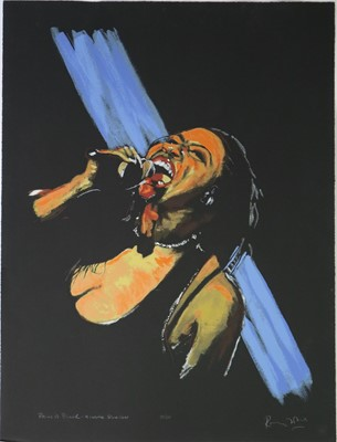 Lot 18 - Ronnie Wood (British b.1947) Paint in Black- Gimme Shelter