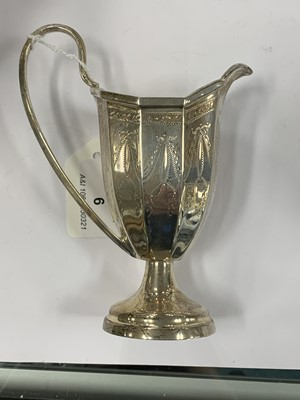 Lot 6 - A Neoclassical style three piece silver tea service