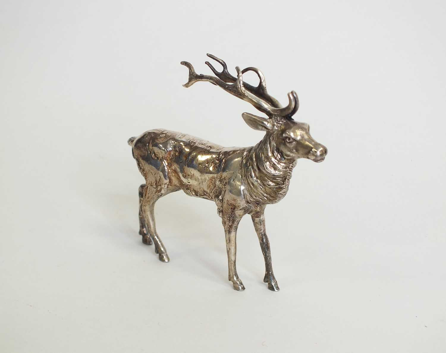 Lot 9 - A continental model of a standing stag