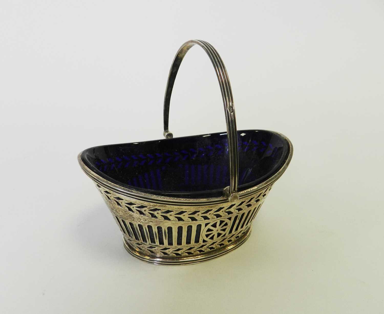 Lot 15 - A Victorian silver sugar basket