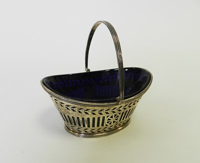 Lot 15 - A Victorian silver sugar basket