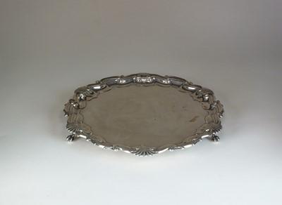 Lot 1 - An Edwardian silver  salver