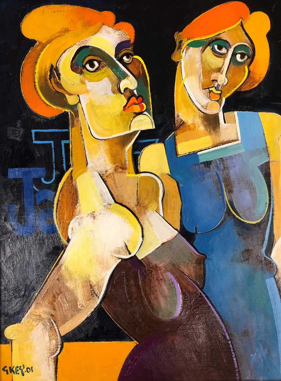 Lot 153 - Geoffrey Key (British b.1941) Jazz