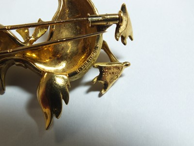 Lot 36 - An 18ct gold novelty brooch in the form of a duck by Boucheron