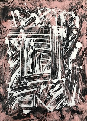 Lot 19 - George Holt (British 1924-2005), Four Abstract Mixed Media Works