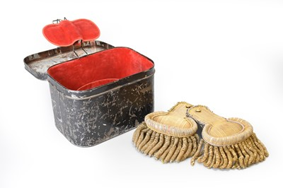 Lot 13 - A set of Royal Navy epaulettes in tin case