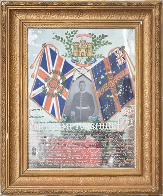 Lot 31 - A printed and painted regimental mirror and a Bass bar mirror