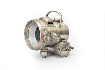 Lot 15 - A Powell & Hanmer chrome acetylene automobile lamp