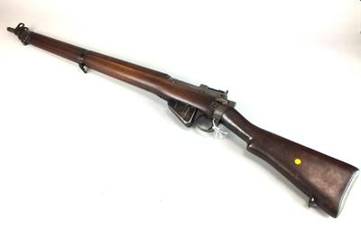 Lot 9 - A Lee Enfield No 4 mark I*.303 rifle, circa 1942, converted to a .410 shotgun