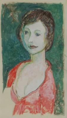 Lot 22 - John Doubleday (British b.1947) Portrait of Fiona