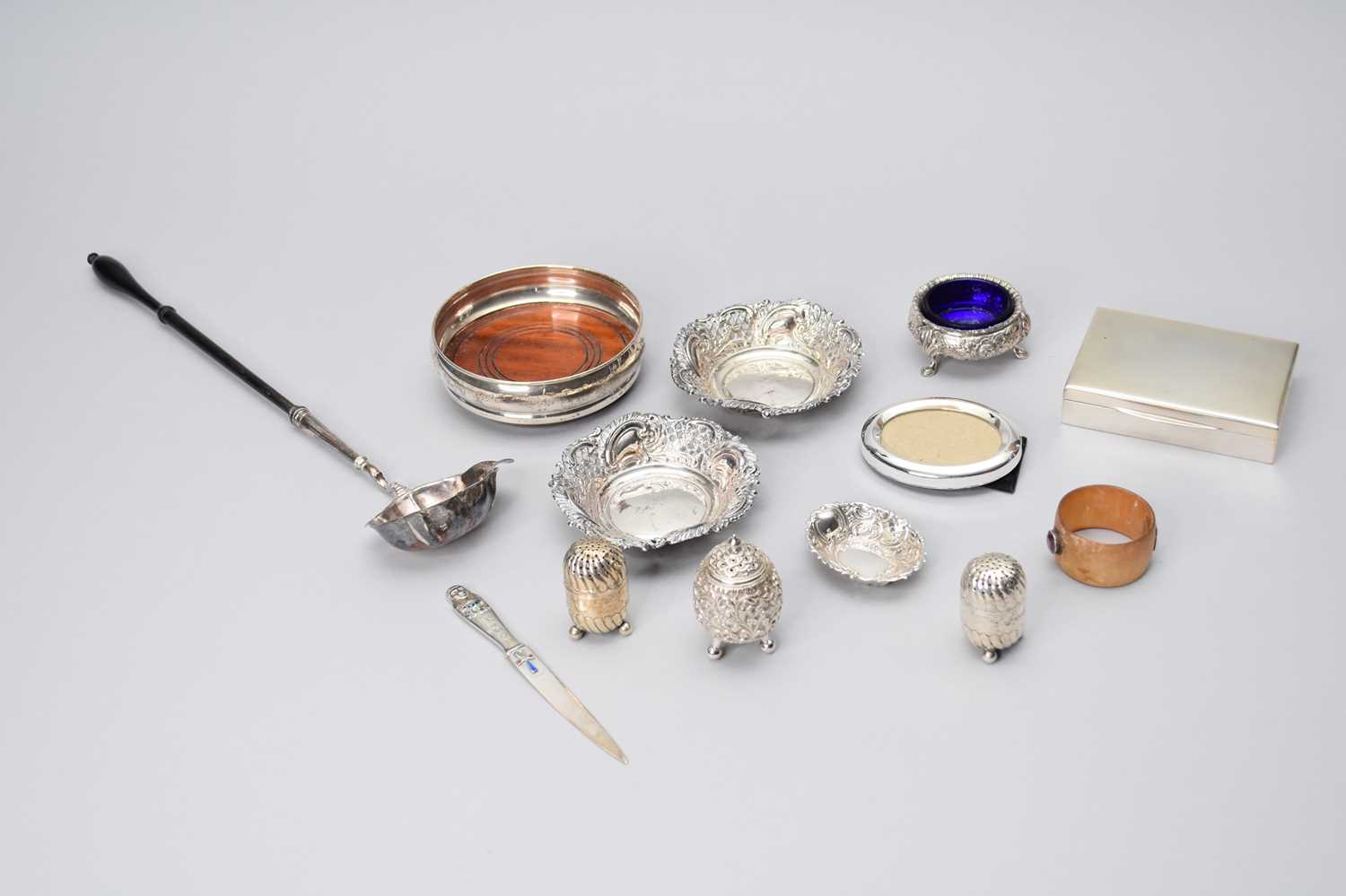 Lot 5 - A collection of various silver items