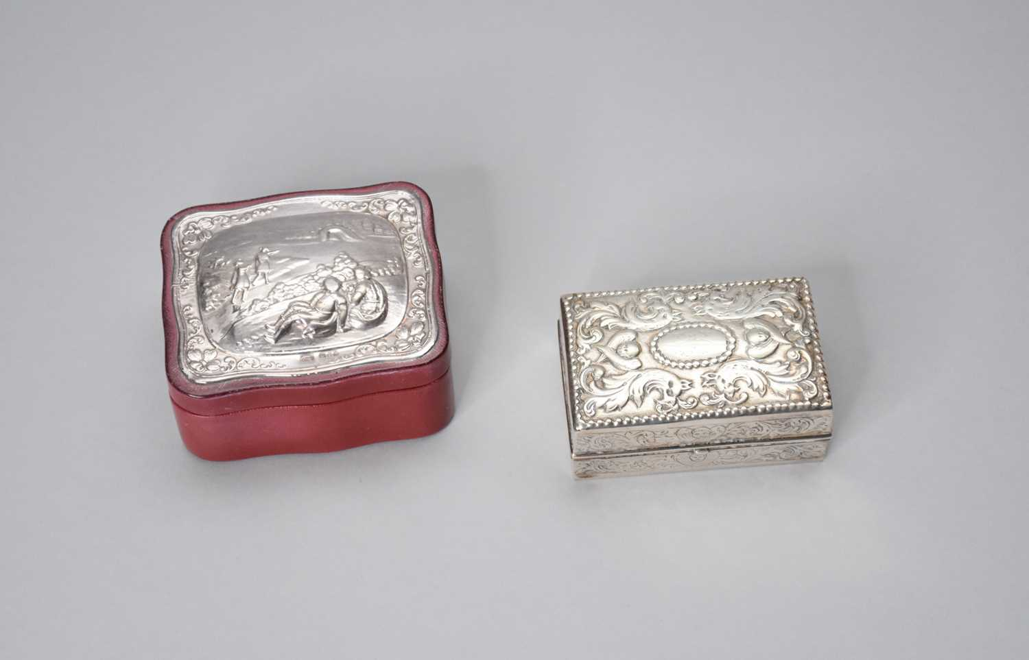 Lot 16 - A Victorian silver ring box
