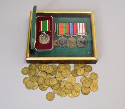 Lot 26 - A group of four World War II medals