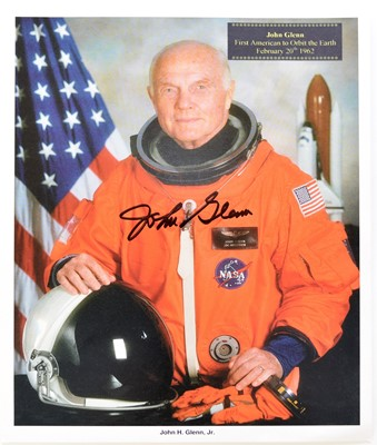 Lot 29 - GLENN, John, astronaut, signed colour 8x 10...