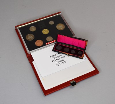 Lot 24 - A Victoria 1898 Maundy coin set