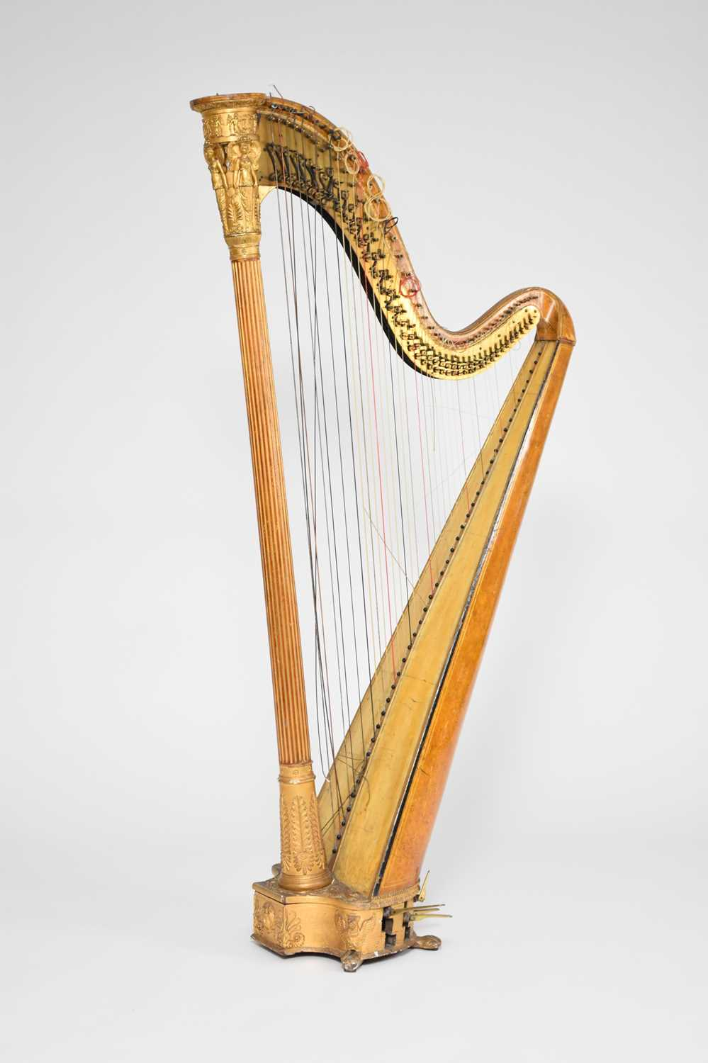 439 - A first half of the 19th century, Neoclassical style, gilt gesso harp by Jacob & James Erat