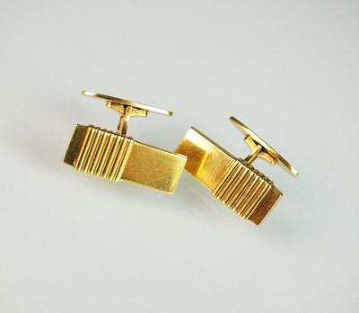 Lot 41 - A pair of 18ct gold Georg Jensen cufflinks
