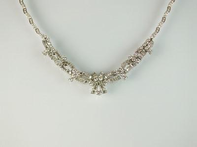 Lot 33 - A diamond necklace by Boucheron