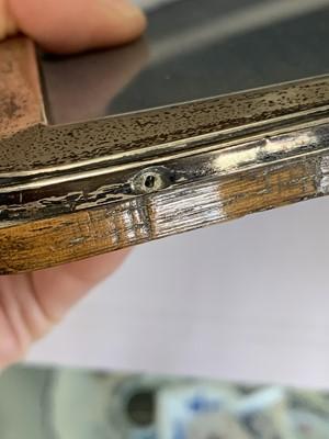 Lot 1 - A George V silver mounted rectangular frame