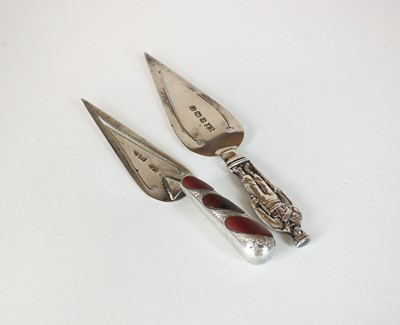 Lot 23 - Two silver bookmarks