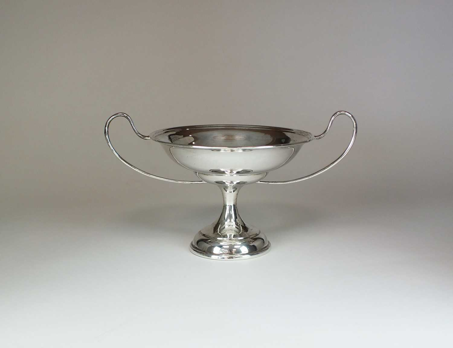 Lot 18 - A two handled pedestal silver dish