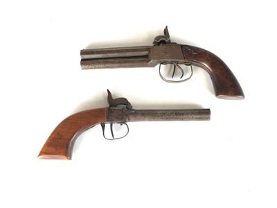 Lot 23 - Two percussion pistols, 19th century