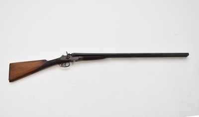 Lot 17 - A Belgian Acier Cockerill, double barrel, 12 bore shotgun and a German double barrel 20 bore (2)