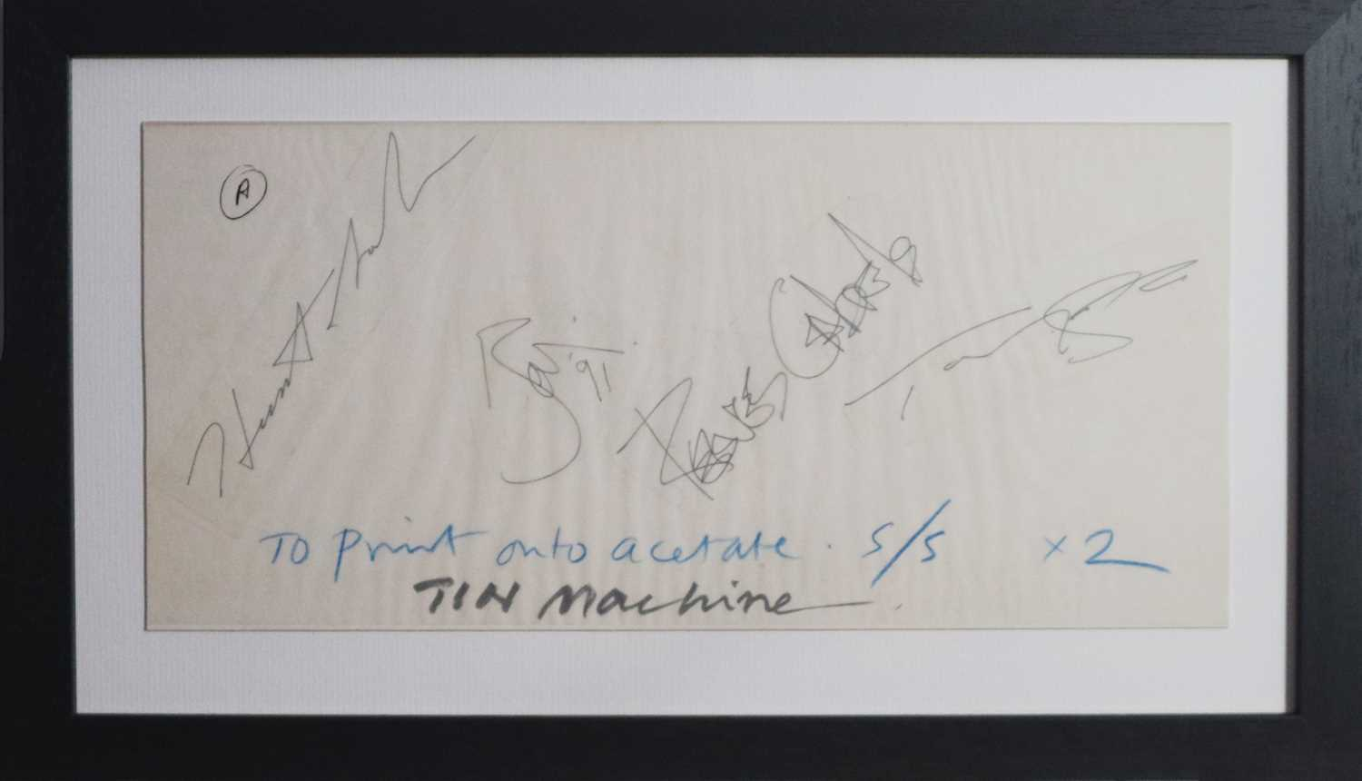 Lot David Bowie and Tin Machine Band Signatures