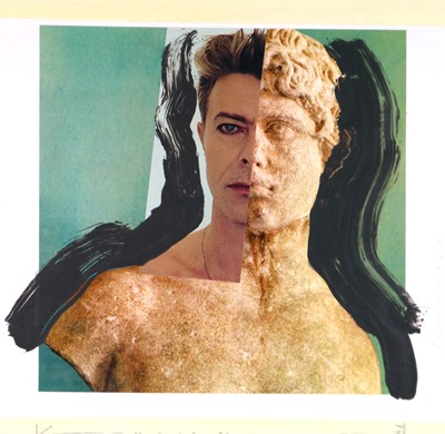 Lot Edward Bell (British Contemporary) David Bowie Statue Montage