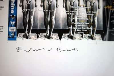 Lot Edward Bell (British Contemporary) Tin Machine Tape Album Cover Design