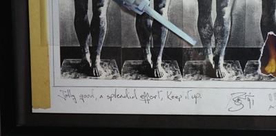 Lot Edward Bell (British Contemporary) Tin Machine Album Cover Design
