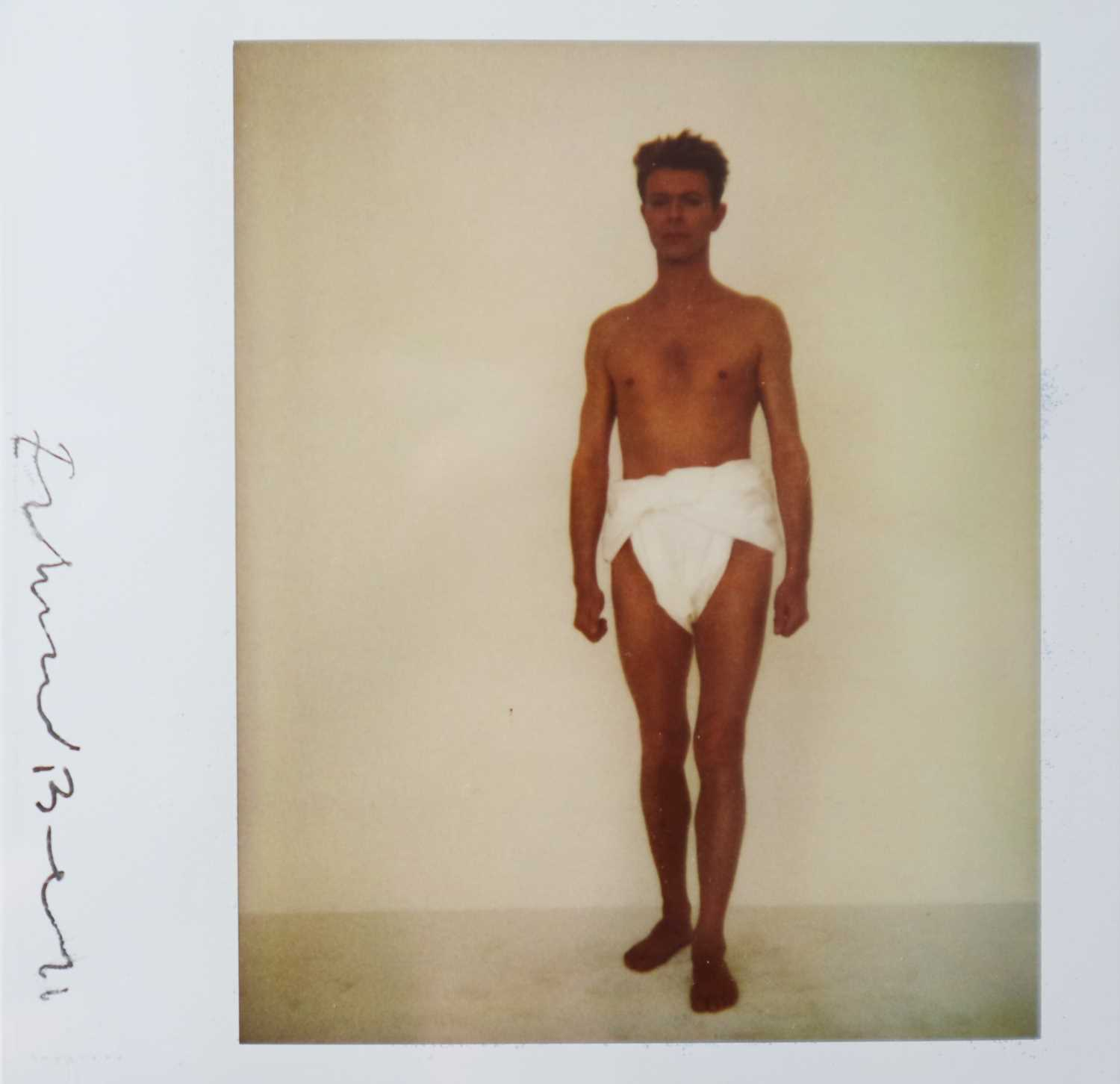 Lot Edward Bell (British Contemporary) Polaroid of David Bowie in a Toga