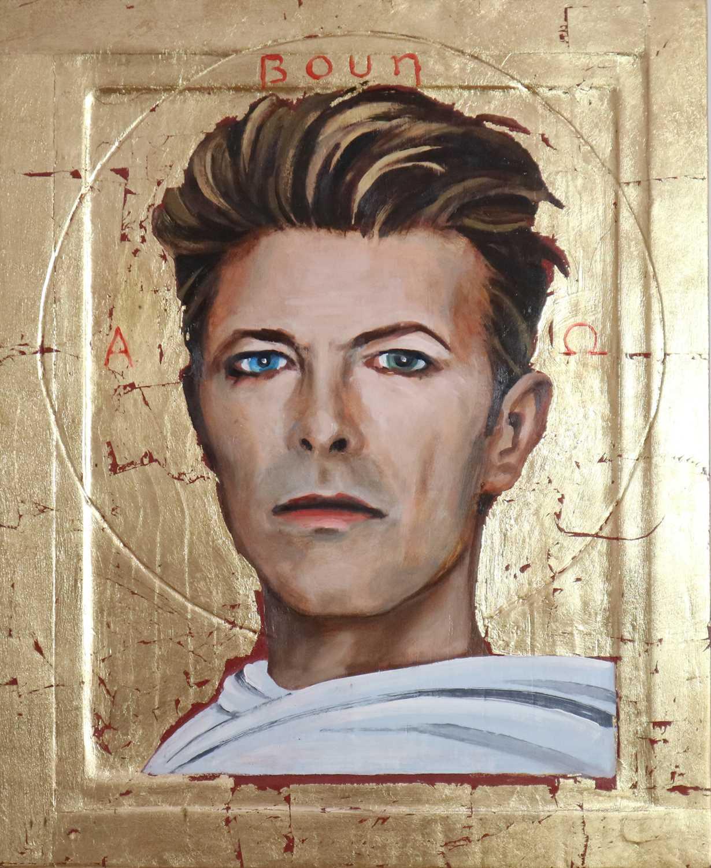 Lot Edward Bell (British Contemporary) David Bowie Golden Icon Portrait