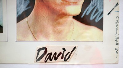 Lot 3 - Edward Bell (British Contemporary) David Bowie Fashion Single Design