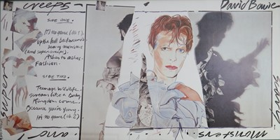 Lot 4 - Edward Bell (British Contemporary) Fly Poster for Scary Monsters Album