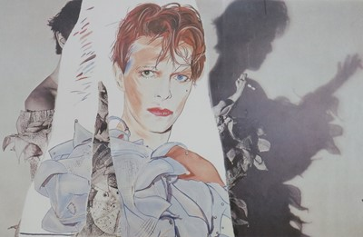 Lot Edward Bell (British Contemporary) Fly Poster for Scary Monsters Album