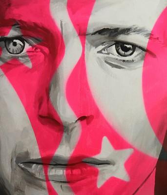 Lot Edward Bell (British Contemporary) David Bowie Split Personality Portrait
