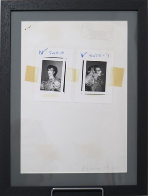 Lot 6 - Edward Bell (British Contemporary) Scary Monsters Photoshoot Contact Sheet