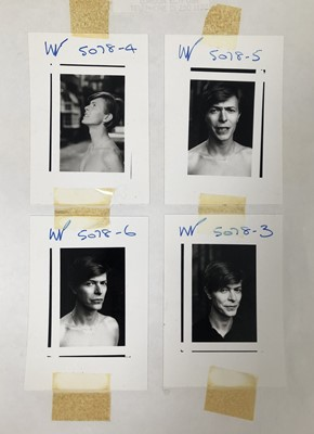 Lot 7 - Edward Bell (British Contemporary) Scary Monsters Photoshoot Contact Sheet