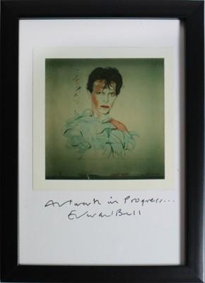 Lot 19 - Edward Bell (British Contemporary) Artwork in Progress, Polaroid