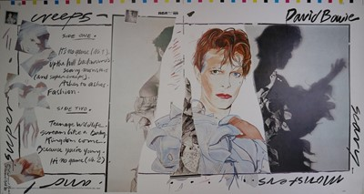 Lot 11 - Edward Bell (British Contemporary) Scary Monsters (and Super Creeps) Album Design