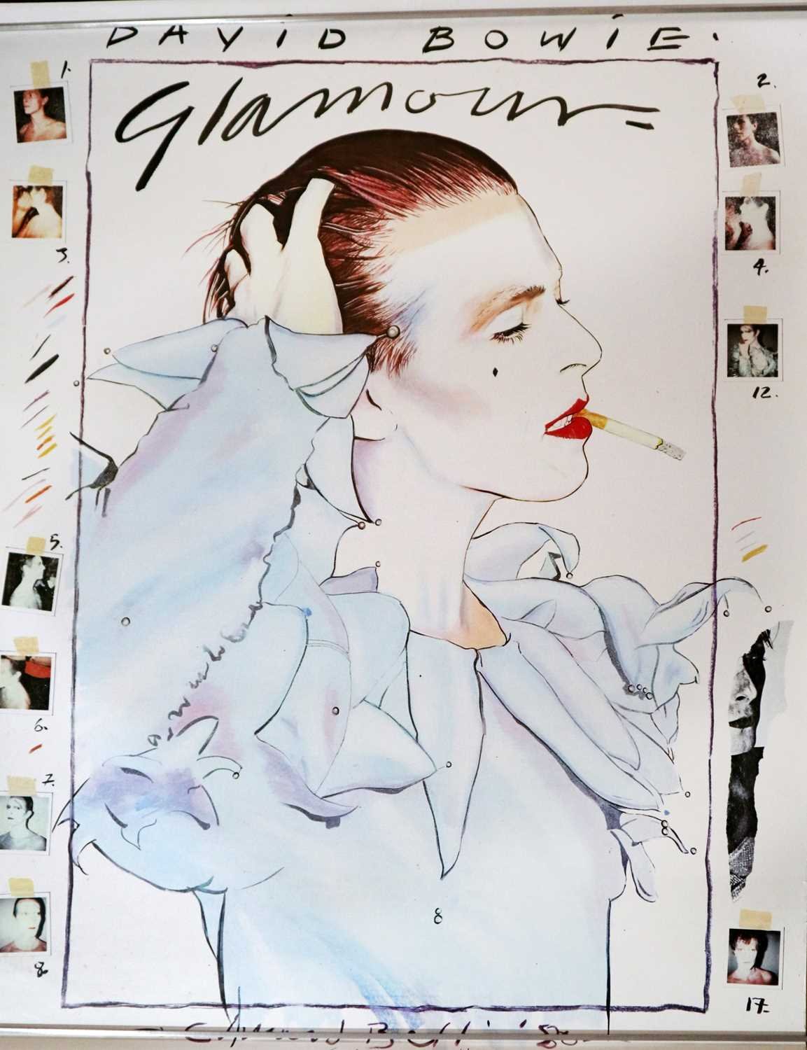 Lot 14 - Edward Bell (British Contemporary) David Bowie Glamour Poster