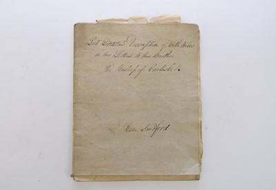 Lot 17 - MANUSCRIPT, Lord Lyttleton's Description of...