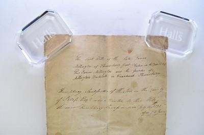 Lot 20 - MILLINGTON'S HOSPITAL. Early copy of the will...